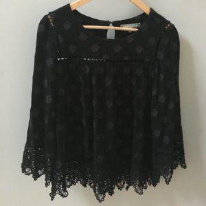 Daniel Rainn Black Lace Top